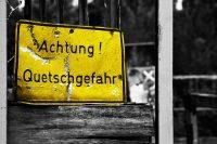 Achtung! Quetschgefahr