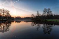 Mühlenteich am Wohldorfer Wald am Morgen