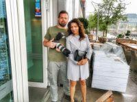 Angelina und ich beim Shooting - Danke, machte sehr viel Spaß!